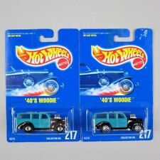 Hot Wheels '40s FORD WOODIE #217 *BWs AND 7-Spokes* NM Blue Cards