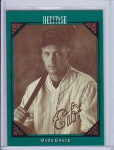 Mark Grace 1993 Studio Heritage Series Baseball Card 5 Grade NMMT