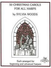 NEW 50 Christmas Carols for All Harps by Sylvia Woods