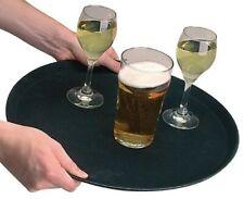 "10 x Non Slip Black Bar Tray Serving Restaurant Waiters Grip Tread Tray 14"""