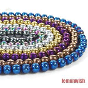 Natural Hematite Gemstone Round Spacer Beads 16'' 2mm 3mm 4mm 6mm 8mm 10mm 12mm