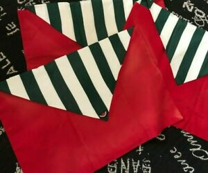 Set 3 Custom Red SUNBRELLA WATERMELON Patio Awning Stripe COVERS FIT BED PILLOWS