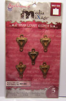 5 Triangle Bezels with loops for Jewelry Craft fill w/ Resin, Paper, Ephemera