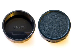 2 x Rear Lens Caps Covers M42 42mm Pentax, Praktica, Fujica and Zenit - UK STOCK