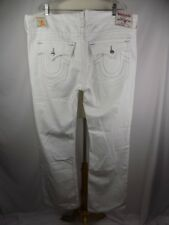 TRUE RELIGION STRAIGHT WHITE FLAP POCKET JEANS 44 x 36 NWT