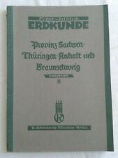Erdkunde höhere Lehranstalten Vorstufe B Provinz Sachsen Thüringen Braunschweig