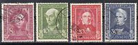 Germany 1949 rare used set of stamps, Michel #117 - 120 Look!