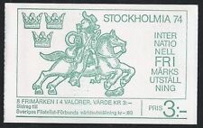 Historical Events Swedish Stamp Booklets