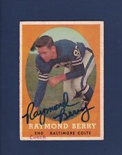 Raymond Berry signed Baltimore Colts 1958 Topps football card