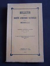 Bulletin de la société d'histoire naturelle de la Moselle - N°36 1950
