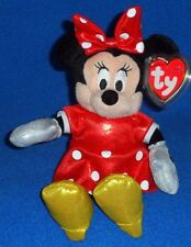 TY DISNEY MINNIE MOUSE RED SPARKLE DRESS BEANIE BABY - MINT / NEAR PERFECT TAG