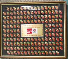 Coca-Cola 1988Seoul Korea  Official  Olympic XXIV International  flag pin set