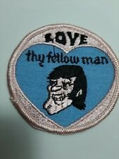 "Vintage 70's NOS ""Love Thy Fellow Man"" Risque Gay Patch 3 """
