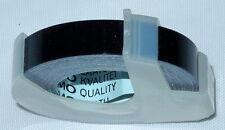 "Dymo 3/8"" (9mm) Self Adhesive Black Embossing Label Maker Labeling Tapes 5201-09"
