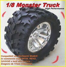 Gomme 1/8 Monster Truck per MTA4 REVO SAVAGE esagono da 17mm (2 gomme) SPAC33205
