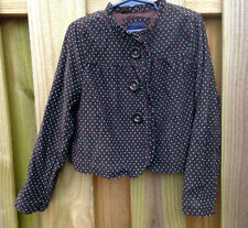 Gap Kids Girls S 6 7  St Petersburg  Brown Corduroy Blue Polka Dot Jacket Blazer