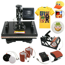6 in 1 Transfer Sublimation T-Shirt Mug Hat Plate Cap Heat Press Machine