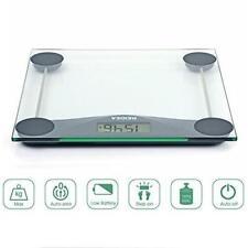 Báscula de Baño Digital 180kg LCD,  Vidrio Transparente Envio desde España