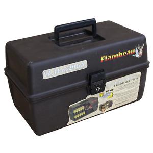 Vintage Flambeau Shot Gun Shell Box 100 Round Capacity with for 12, 16 or 20GA.