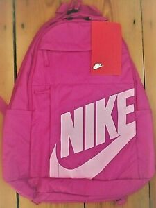 NIKE BACKPACK TRAVEL SCHOOL GYM BAG DEEP PINK 21 LITRES NEW NWT