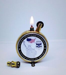 Vintage Petrol Lighter United States of America Handmade Steampunk