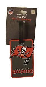 Tampa Bay Buccaneers Travel Bag Tag Luggage ID Tag Team Colors NFL