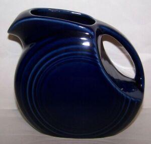 NEW FIESTA SMALL JUICE PITCHER COBALT BLUE RETIRED FIESTAWARE