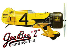 "Model Airplane Plans (UC): Gee Bee Z Super Sportster 30½"" Scale for .19-.29"