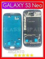 FRAME TELAIO ANTERIORE Alloggio LCD CORNICE ARGENTO SAMSUNG GALAXY S3 Neo I9301I