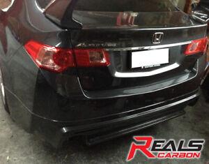 Honda Accord Euro CU2 08-13 MG Style Hybrid Carbon Rear Bumper Lip Add On