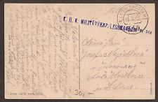 AUSTRIA / MONTENEGRO. WW1. 1918. FELDPOST. FPO 349 - CETINJE. SULLPY / RATIONS M