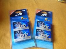 JVC Mini DV Digital Video Cassette 60 Minute Dvm60 X 2 -