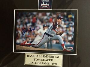 Tom Seaver Autograph 4x6 matted to 8x10 Color Photo w/coa