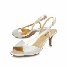 Party Satin Peep Toe Heels Women's Nine West
