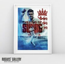 New listing England Test Legend & Kong Of Swing Jimmy Anderson - A3 Concept Poster Print