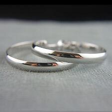 18k white Gold GF hoop earrings