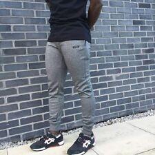 Mens Slim Fit Cuffed Pants, Track Pants, Zip Pocket, Sweat Bottom  (L Size)
