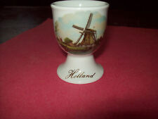 ROYAL-SCHWABAP-PORCELAIN EGG CUP DUTCH WINDMILL  1984 TER STEEGE HOLLAND