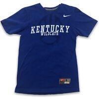 Nike Mens Crew Neck Short Sleeve Kentucky Wildcats Blue T Shirt Size Small