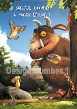 Gruffalo Personalised Large Birthday Card Daughter Son Sister Brother Same Day P