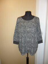 Ladies Grey Animal Print T-Shirt - Size 20
