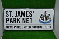 Newcastle United  St James Park Metal Street Sign. NUFC Sports Memorabilia