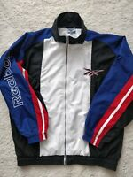 Reebok 90's Vintage Mens Tracksuit Top Jacket Multicolor Classic Hype Logo