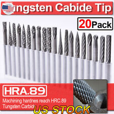 US 20pcs Tungsten Carbide Rotary Point Burr Die Grinder Shank Sets 3*3mm Tools