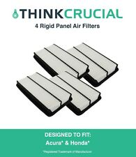 4 Replacements Acura / Honda Rigid Panel Air Filters Part # A25651 & Ca10013