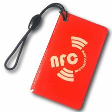 5 X NFC Hang Oblong Tags NTAG213 Chip Waterproof - Samsung Android Window iPhone
