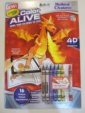 Crayola Color Alive Mythical Creatures 4D Experience NEW Ages 4+ Pages & Crayons