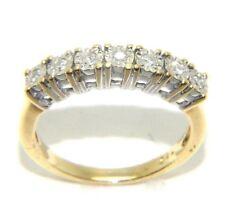 Mujer 18ct 18 Quilates Oro Anillo De Media Eternidad Set con diamantes