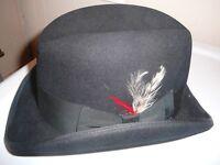 English Riding Show Hat NIB Black 6 3/4-54 Bedford Tack Genuine Fur Felt