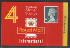 1994 GQ1 Barcode Booklet 4 x 60p Worldwide Airmail stamps - complete